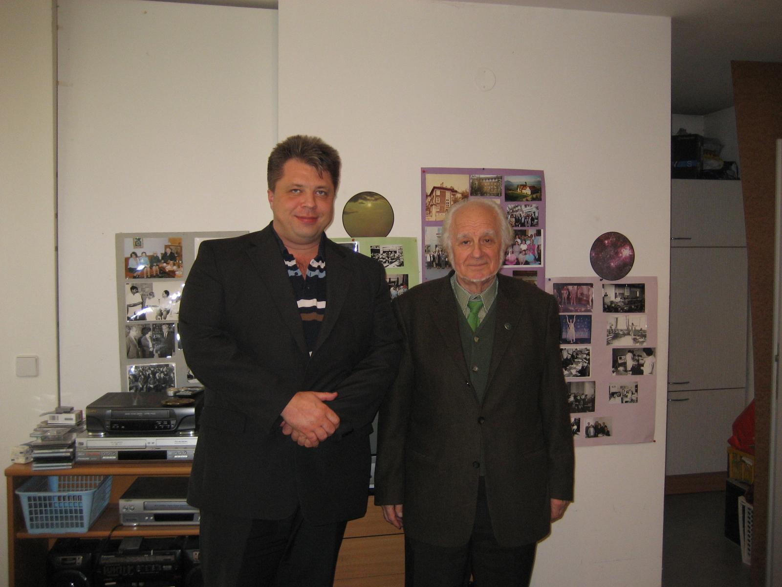 Algirdas Karalius su Georgi Lozanov